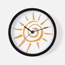 Spiral Sun Wall Clock