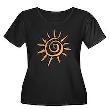 Spiral Sun Plus Size T-Shirt