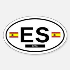 Spain Oval Decal