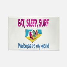 Eat, sleep, surf Rectangle Magnet