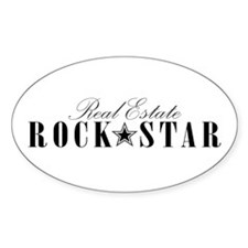 RE Rock Star Oval Decal