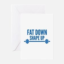 Fat Down Shape Up Greeting Cards (Pk of 20)