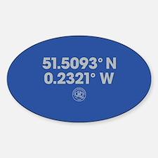 Queens Park Rangers Coordinates Sticker (Oval)