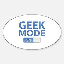 Geek Mode Sticker (Oval)