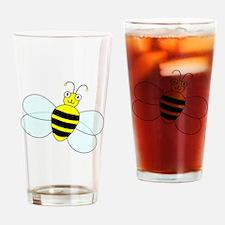 Cartoon Bee Drinking Glass
