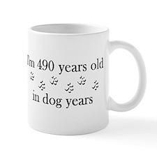 70 birthday dog years 4-2 Mug