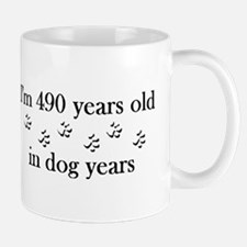 70 birthday dog years 4-2 Mug
