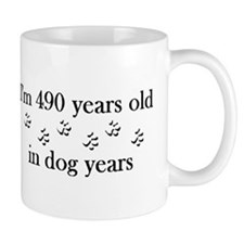 70 birthday dog years 4-2 Small Mug