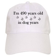 70 birthday dog years 4-2 Baseball Cap