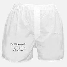 75 birthday dog years 4-1 Boxer Shorts