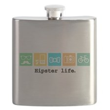 Funny Hipster Flask
