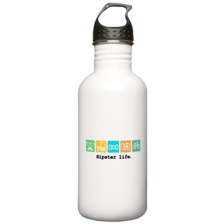 Funny Hipster Water Bottle