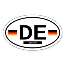 German Oval Decal