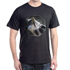 3 Feathers Wolf T-Shirt