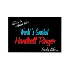 World's Greatest Ringer Black Rectangle Magnet