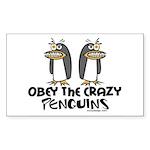 Crazy Penguins Rectangle Sticker