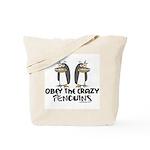 Crazy Penguins Tote Bag
