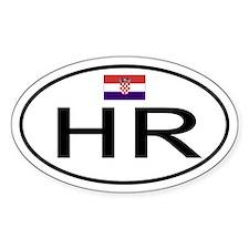 Croatia Oval Decal