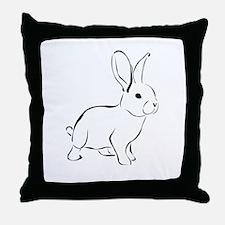 Bunny Drawing Throw Pillow