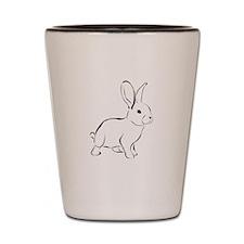 Bunny Drawing Shot Glass