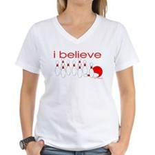 I believe in bowling Women's Pink T-Shirt