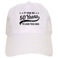 Funny 50th Birthday Baseball Baseball Cap