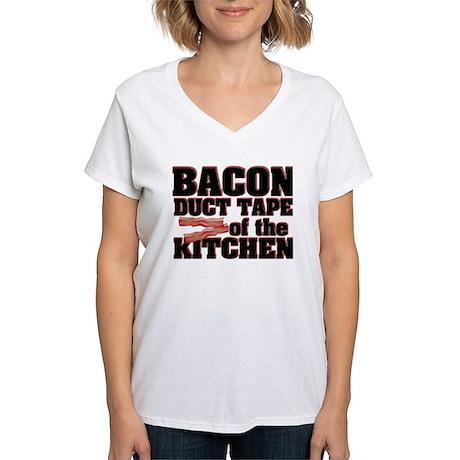 Bacon - Duct Tape Women's V-Neck T-Shirt