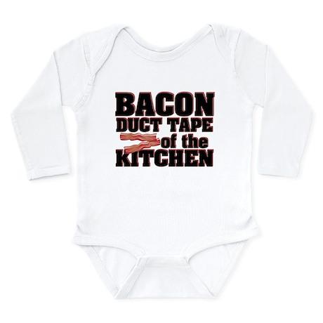 Bacon - Duct Tape Long Sleeve Infant Bodysuit