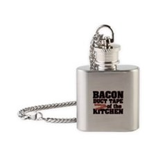 Bacon - Duct Tape Flask Necklace