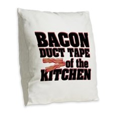 Bacon - Duct Tape Burlap Throw Pillow