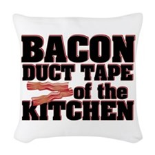 Bacon - Duct Tape Woven Throw Pillow