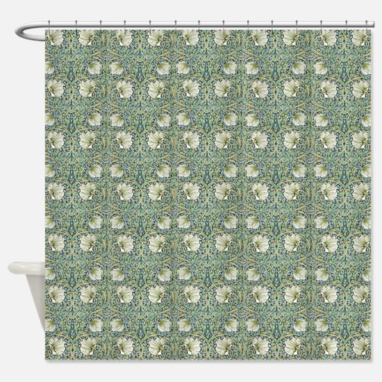 Morris Pimpernel with Repeats Shower Curtain
