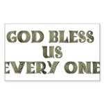 God Bless Us Every One! Rectangle Sticker