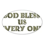God Bless Us Every One! Oval Sticker