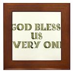 God Bless Us Every One! Framed Tile