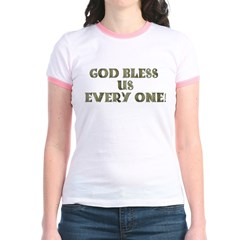 God Bless Us Every One! (2-sided) Jr. Ringer T-Shi