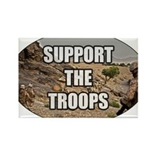 Support The Troops - Army Rectangle Magnet