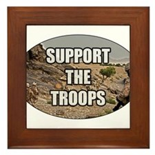 Support The Troops - Army Framed Tile