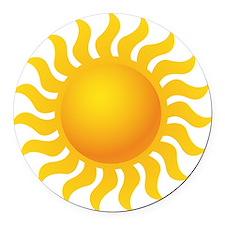 Sun - Sunny - Summer Round Car Magnet
