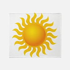 Sun - Sunny - Summer Throw Blanket