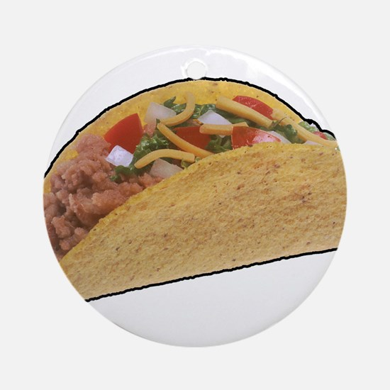 Taco - Food - Mexican Ornament (Round)
