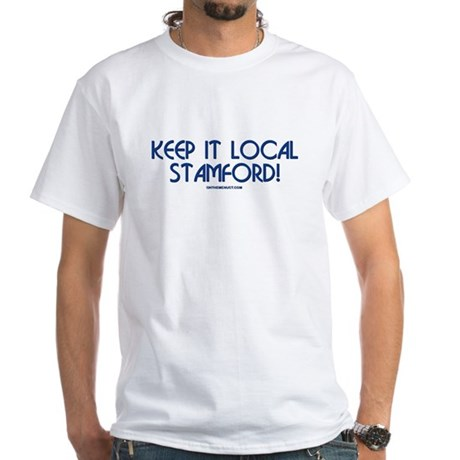 What's on the Menu? Keep it Local White T-Shirt