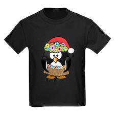 Hawaiian Christmas Penguin T-Shirt