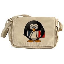 Book Worm Penguin Messenger Bag