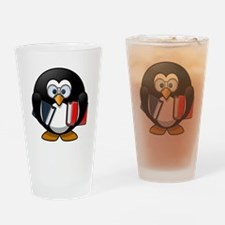 Book Worm Penguin Drinking Glass