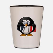 Book Worm Penguin Shot Glass