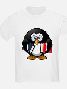 Book Worm Penguin T-Shirt