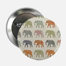 "Elephant Colorful Repeatin 2.25"" Button (100 pack)"