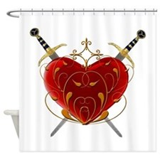 Heart And Daggers Shower Curtain