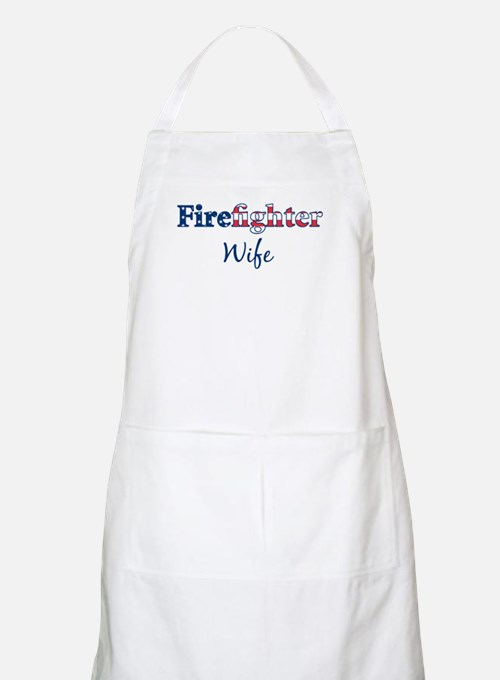Firefighter Wife BBQ Apron